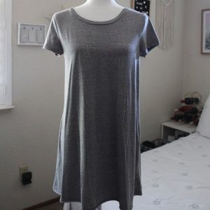 Light Gray T-Shirt Dress